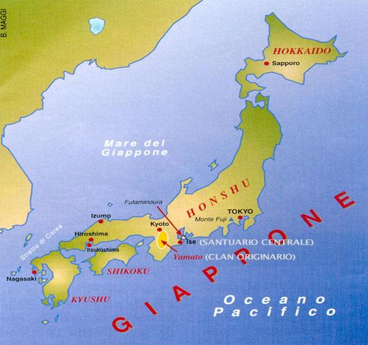 Cartina Muta Del Giappone.Shintoismo Introduzione
